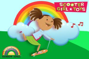 Rainbow Songs and Scooter Girl are partnering for the Winter 2019 music class session